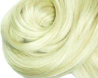 idérik hårtextur för blond coiffure Fotografering för Bildbyråer