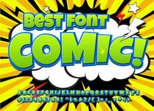 Idérik hög detaljkomikerstilsort Alfabet av komiker, popkonst stock illustrationer