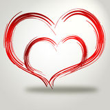 idérik hjärta Arkivfoton
