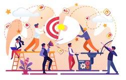 Idérik idé av affärsframgång Kontorsteamwork stock illustrationer