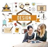 Idérik idémodell Planning Sketch Concept för design Royaltyfri Fotografi