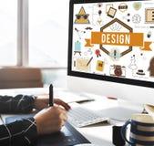 Idérik idémodell Planning Sketch Concept för design Royaltyfri Bild