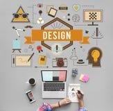 Idérik idémodell Planning Sketch Concept för design Royaltyfria Foton