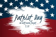 Idérik illustration-, affisch- eller banermall av patriotdagen med USA flaggan som en bakgrund Fotografering för Bildbyråer