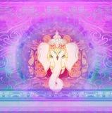 Idérik illustration av hinduiska Lord Ganesha Royaltyfria Bilder