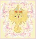 Idérik illustration av hinduiska Lord Ganesha Arkivfoto