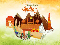Idérik illustration för indisk självständighetsdagen Arkivfoto