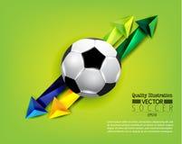 Idérik illustration för vektor för fotbollfotbollsport Royaltyfria Foton