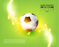Idérik illustration för vektor för fotbollfotbollsport Fotografering för Bildbyråer