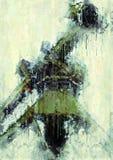 Idérik illustration - lastkran - abstrakt Digital olje- målning royaltyfri illustrationer