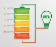 Idérik infographic affärsidé för modern design