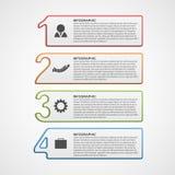 Idérik infographic nummeralternativmall vektor illustrationer