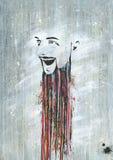 Idérik konstnär för målarfärgskägg Royaltyfria Foton