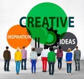 Idérik kreativitet skapar inspirationidébegrepp royaltyfria foton