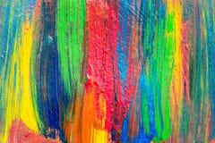 Idérik målning för akryl för konstbakgrund hand dragen Closeupsho Royaltyfria Foton