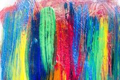 Idérik målning för akryl för konstbakgrund hand dragen Closeupsho Arkivbilder