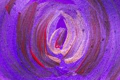 Idérik målning för akryl för konstbakgrund hand dragen Closeupsho Arkivfoto