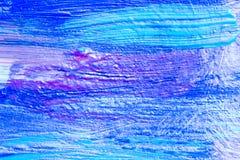 Idérik målning för akryl för konstbakgrund hand dragen Closeupsho Royaltyfria Bilder