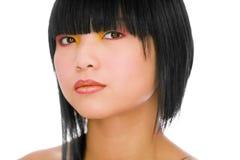 idérik makeup royaltyfri foto