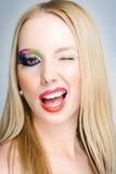 idérik makeup Arkivbild