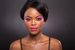 Idérik makeup för afrikansk kvinna Royaltyfria Bilder