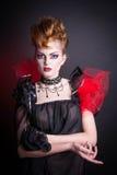 Idérik makeup- och blodbild av den onda drottningen Arkivbild