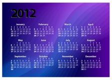 idérik mall för 2012 kalender Arkivfoto