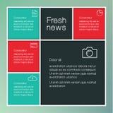 Idérik mall för vektor med stället för ditt innehåll colorfully Royaltyfri Fotografi