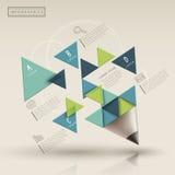 Idérik mall med den infographic triaingleblyertspennan royaltyfri illustrationer