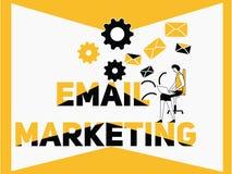 Idérik marknadsföring och folk för ordbegreppsEmail som gör aktiviteter royaltyfri illustrationer