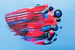 Idérik modern abstractionism, konst gör för att spika upp polerade produkter Arkivbilder