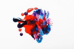 Idérik modern abstrakt målning, blandade färger Arkivfoto