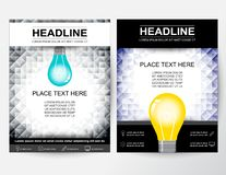 Idérik orientering för reklambladabstrakt begreppdesign för affär i A4 vektor illustrationer