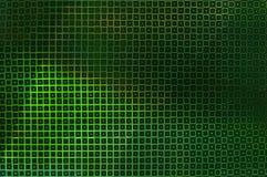 Idérik ovanlig grön bakgrund av glödande fyrkanter royaltyfri foto