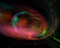 Idérik overklig fractal för abstrakt digital garnering för energi grafisk, idérik mall för effekttexturdesign stock illustrationer