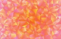Idérik polygonal abstrakt bakgrund Låg poly crystal modell royaltyfri illustrationer
