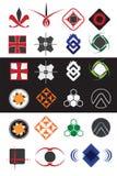 Idérik samling för symboldesignbeståndsdelar Arkivfoton