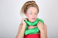idérik sminkkvinna för härlig coiffure Royaltyfria Foton