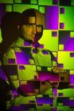 Idérik stående av en man Arkivfoto
