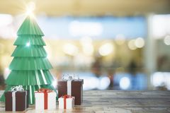 Idérik tapet för julträd stock illustrationer
