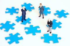 idérik teamwork arkivbilder