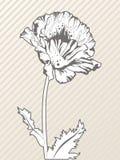 idérik tecknad blommahand stock illustrationer