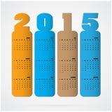 Idérik textdesign för lyckligt nytt år 2015 Arkivbild