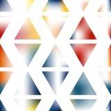 Idérik triangelbakgrund för abstrakt konst Arkivbild