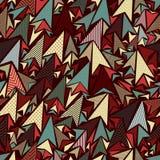 Idérik triangelbakgrund för abstrakt konst Arkivfoton