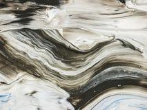 Idérik våg, abstrakt hand målad bakgrund Royaltyfri Fotografi