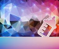 Idérik vårda flaska Bakgrund för konstillustrationmall För presentation orientering, broschyr, logo, sida, tryck stock illustrationer