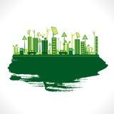 Idérik vektor för eco-vänskapsmatch stadsdesign Royaltyfri Fotografi