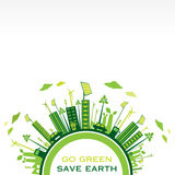 Idérik vektor för eco-vänskapsmatch stadsdesign Royaltyfria Bilder