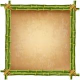 Idérik vektorillustration av bambustamramen Arkivbild